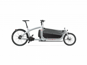 triobike cargo 2019 silver with side panel and flat cover side