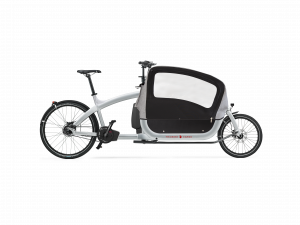 triobike cargo 2019 silver with side panel and hood side