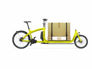 triobike cargo big yellow eur6 panel with box side