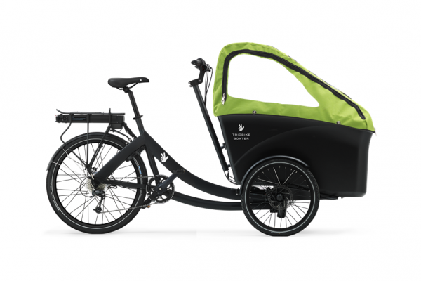 triobike boxter rear drive black 2 kids hood side