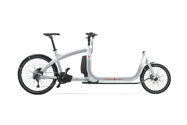 triobike cargo e silver ZEE no lights