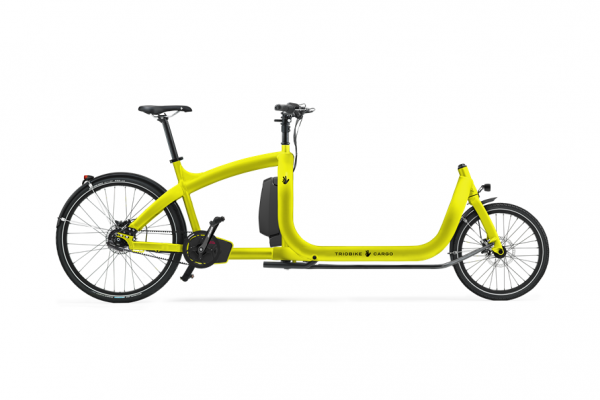 triobike cargo e yellow enviolo supernova lights side